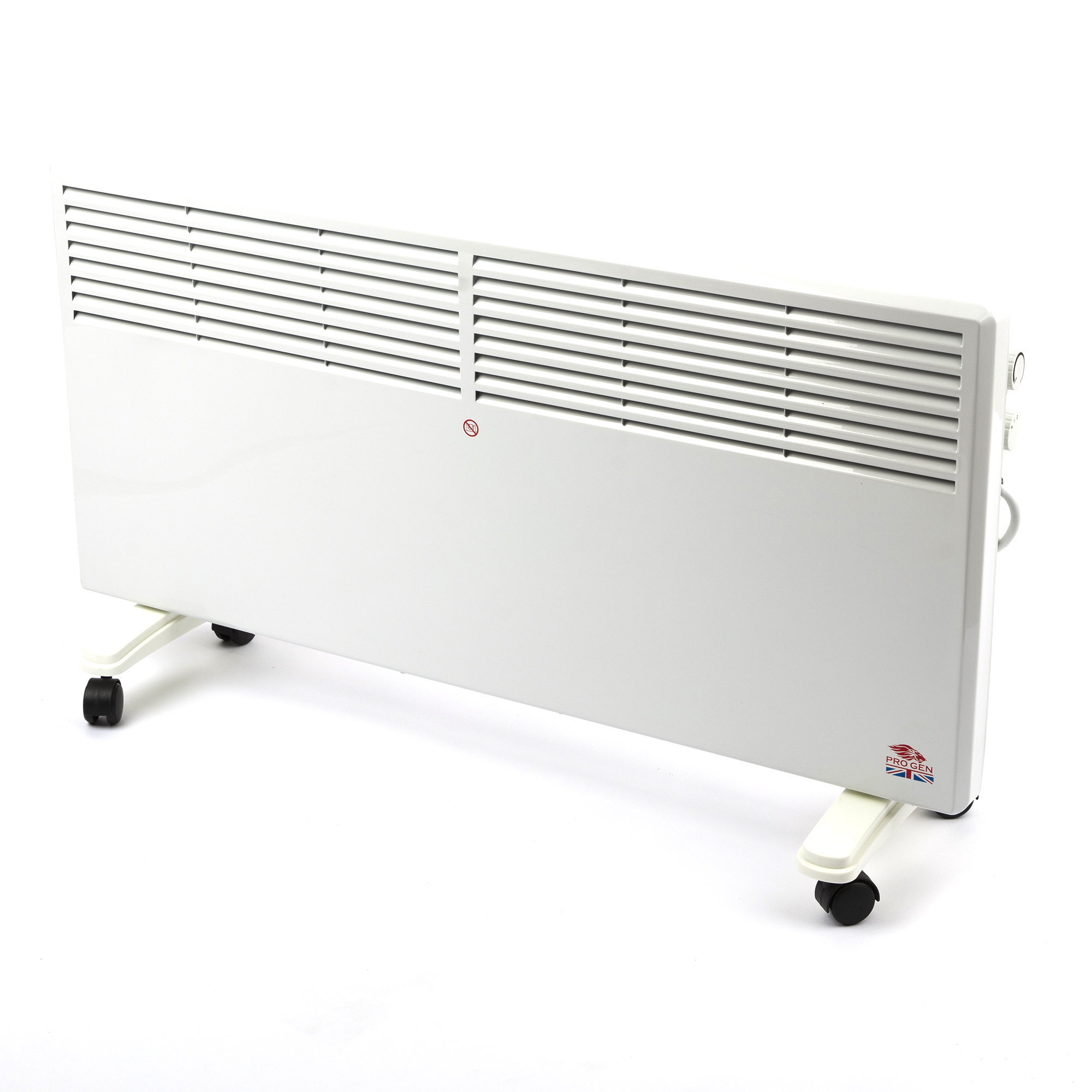Panel Heater Electric Convection Heater Free Standing Portable Wheels Wall Mount