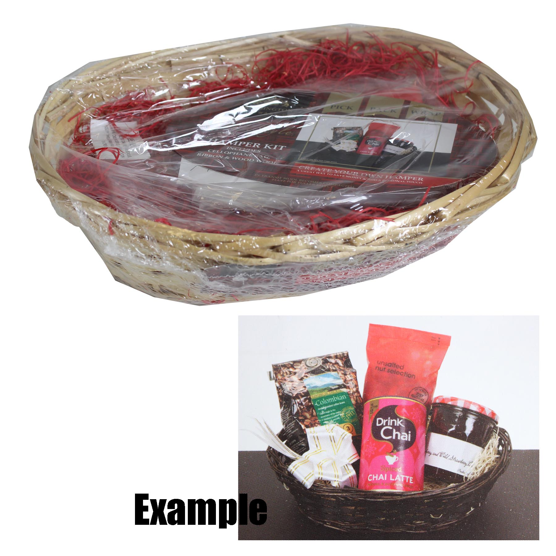42g Bag Shredded Wood Wool RED Hamper Kit Filling
