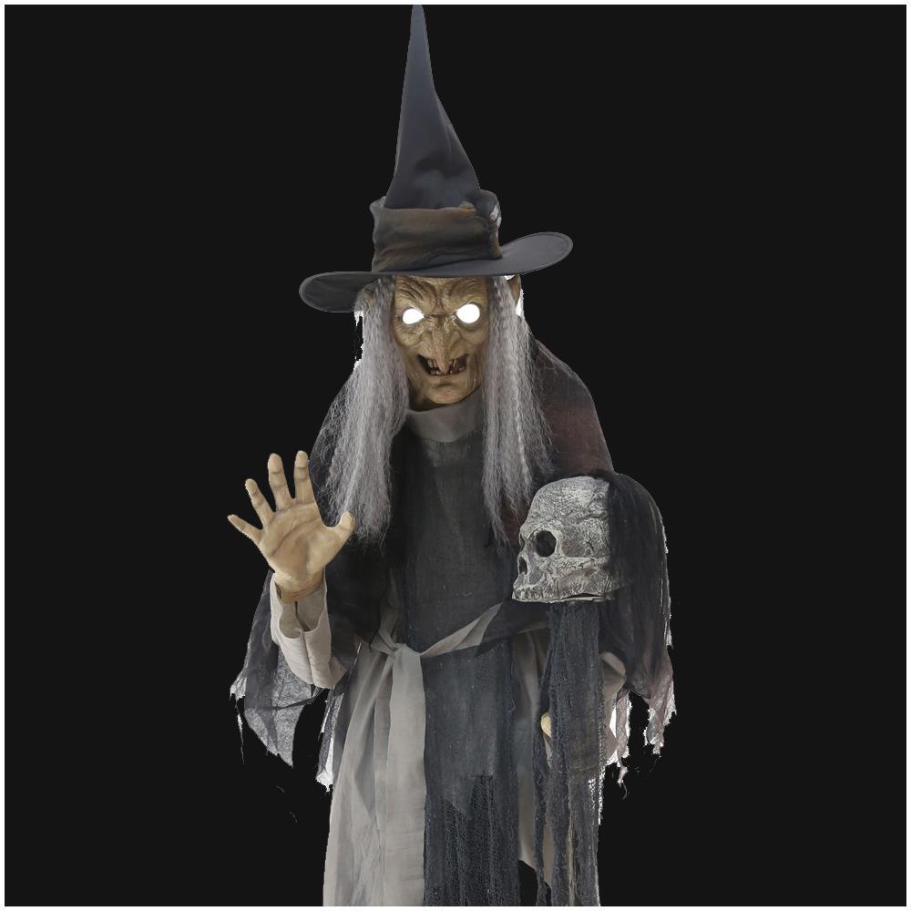 Decoration Sorciere Halloween.Détails Sur Life Size Animé Longes Haggard Sorcière Halloween Prop Moving Décoration Afficher Le Titre D Origine