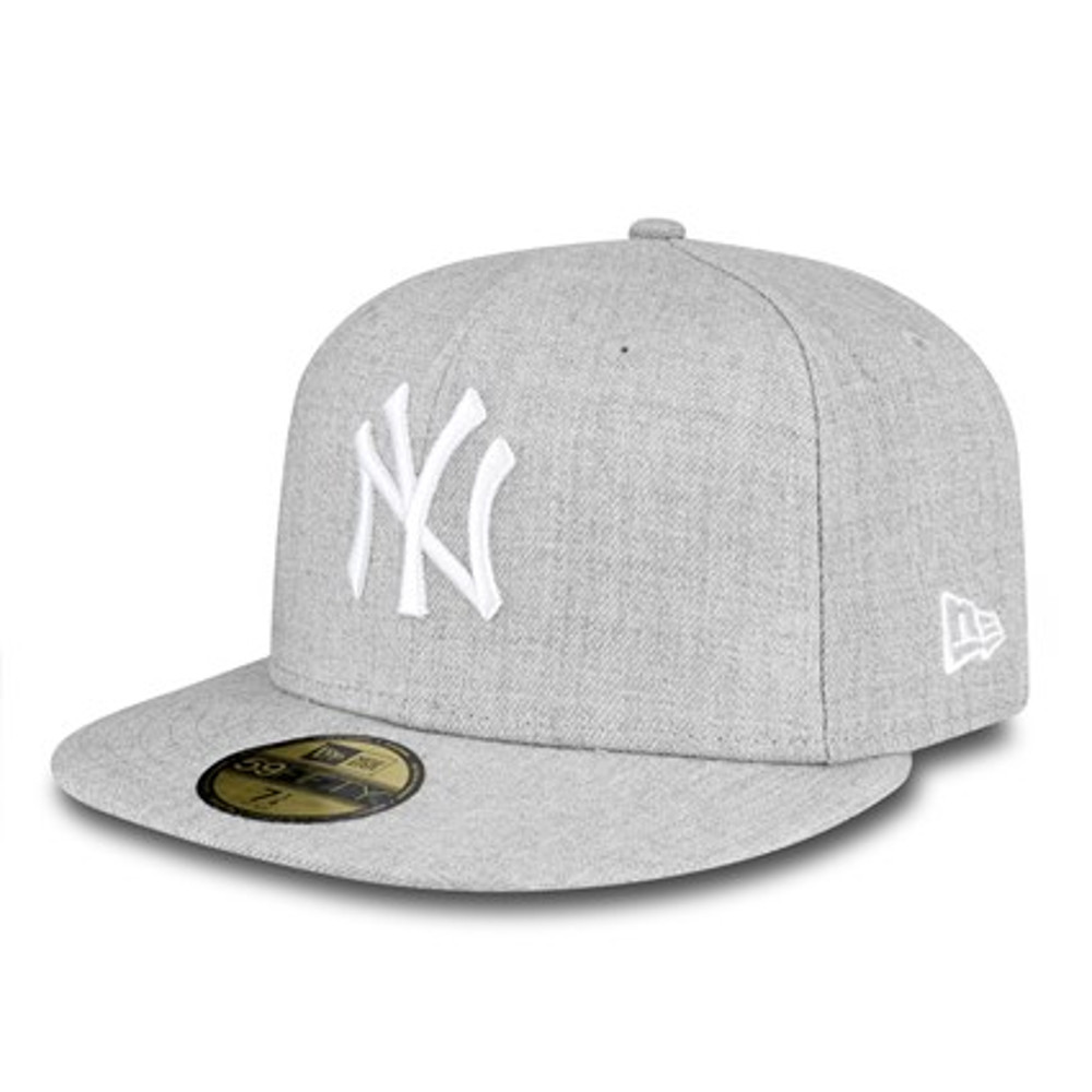 b0a0b7eac8e94 NUEVA ERA nuevo para hombre gris 59Fifty New York Yankees gorra de BNWT