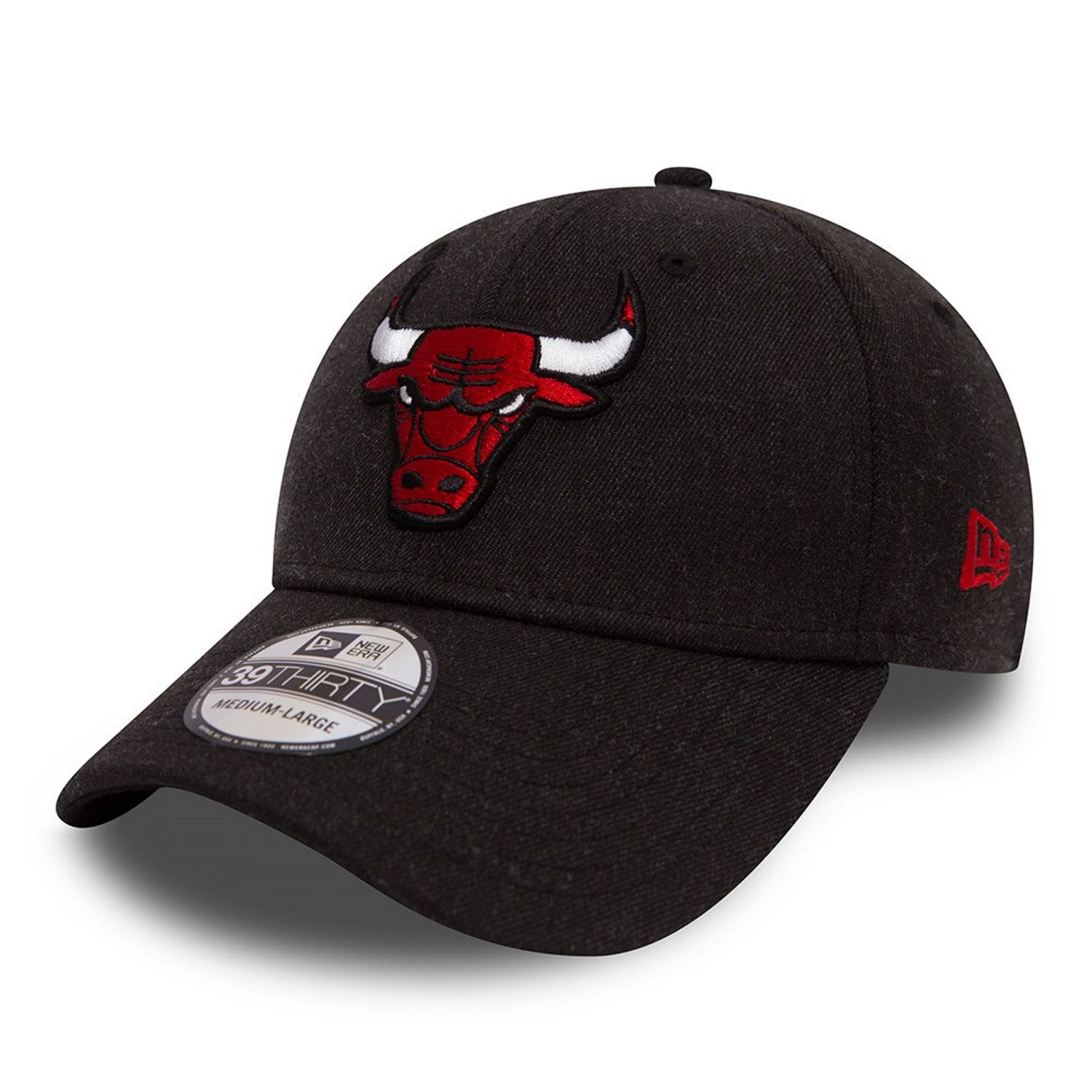NUOVA ERA nuova Mens nero 39Thirty nuova Era NBA Chicago Bulls Cap - BN  Heather Black 5d107cae2f66