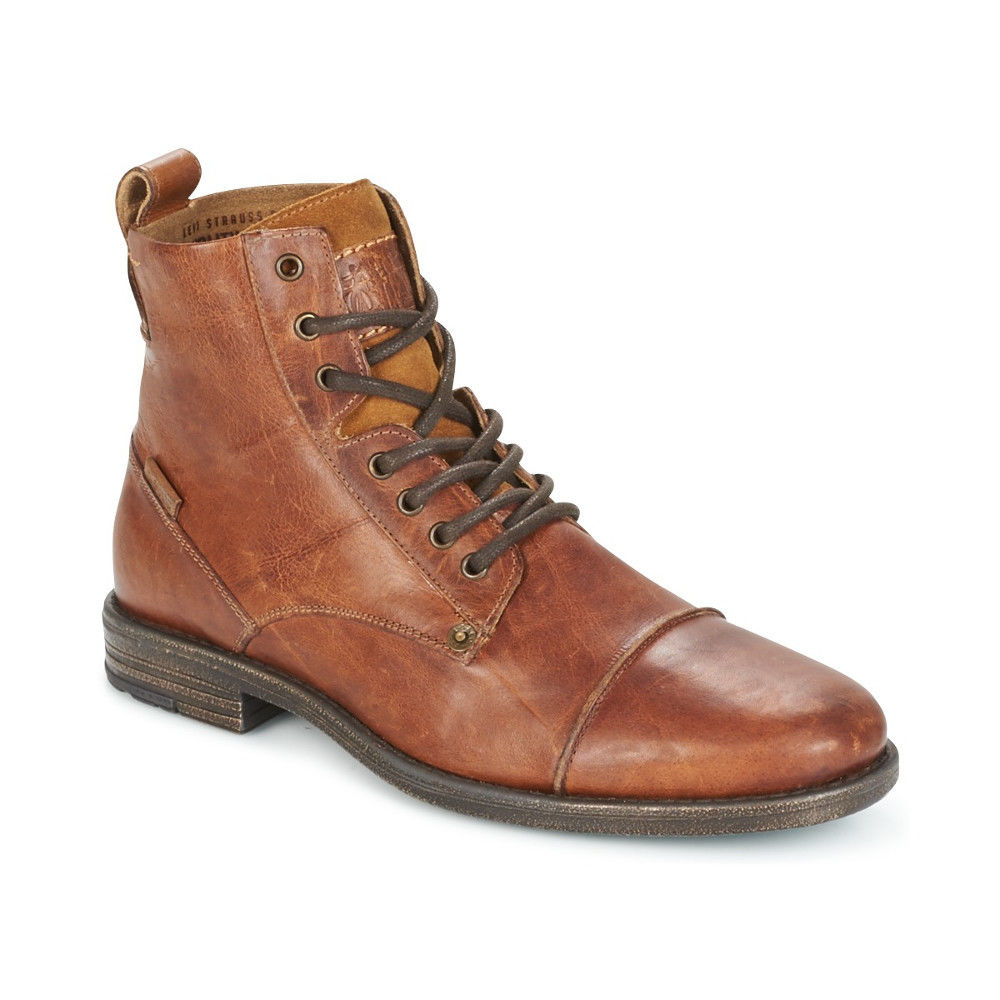3c9176f48e4 Details about LEVI'S NEW Mens Brown Emerson Lace Up Boots BNWT