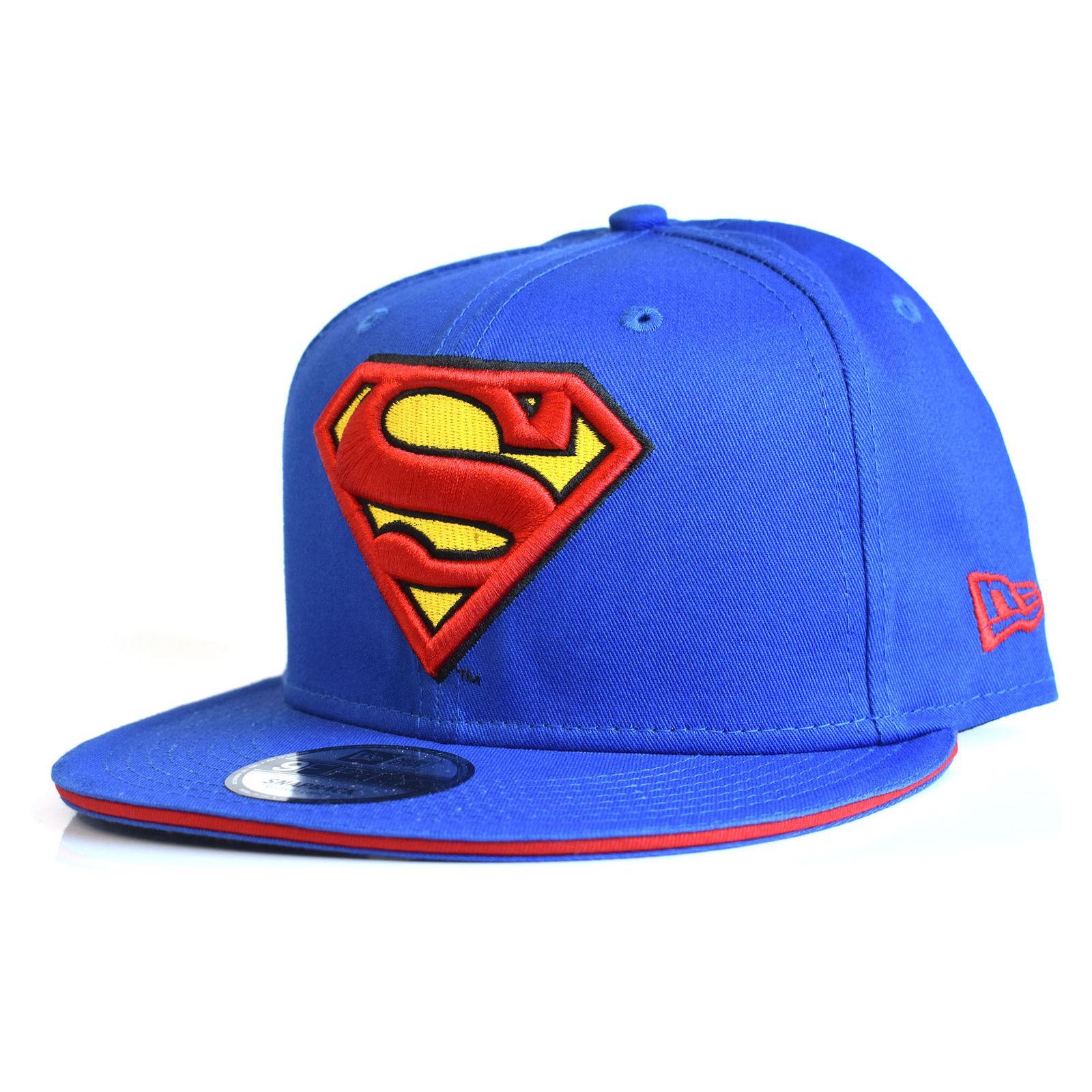 0722082ea922f NUEVA ERA Superman 9Fifty Snapback Gorra azul tebeos de la C.C. de BNWT