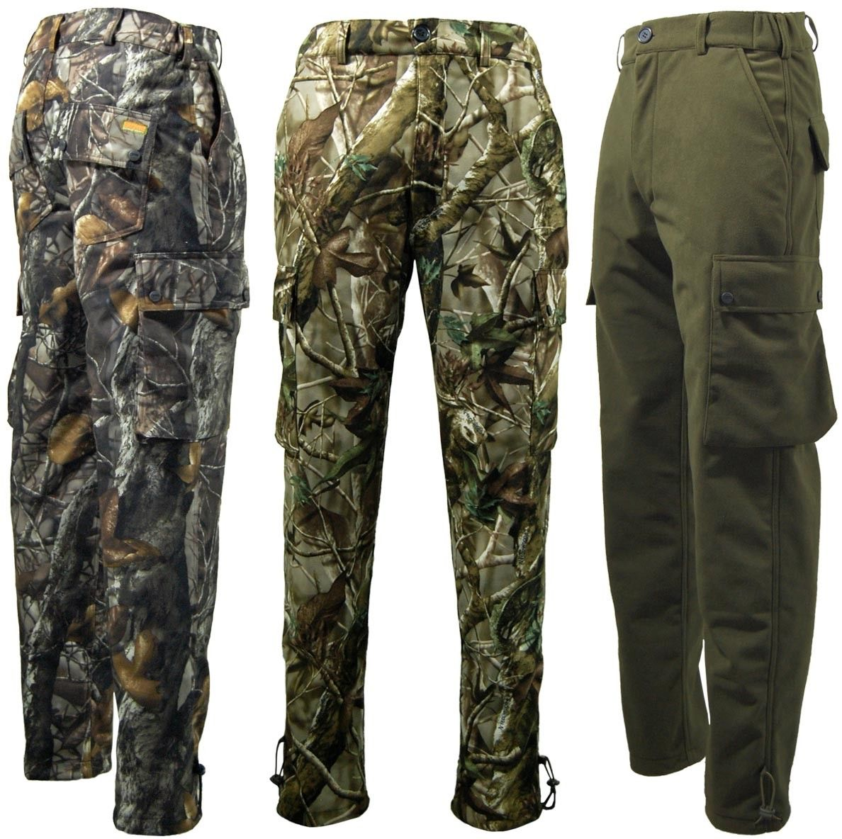 Game Mens Tecl-Wood Stealth Camouflage Army Hunting Shooting Fishing Trouser