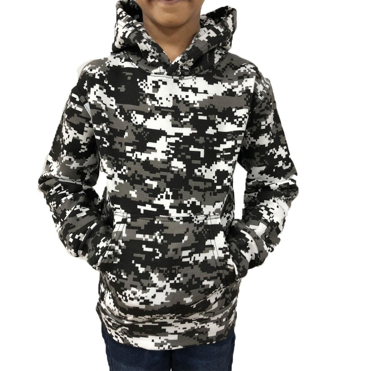 43720902cb0cb Details about Game Kids Digital Camo Urban Hoody | Army Camouflage Hooded  Top
