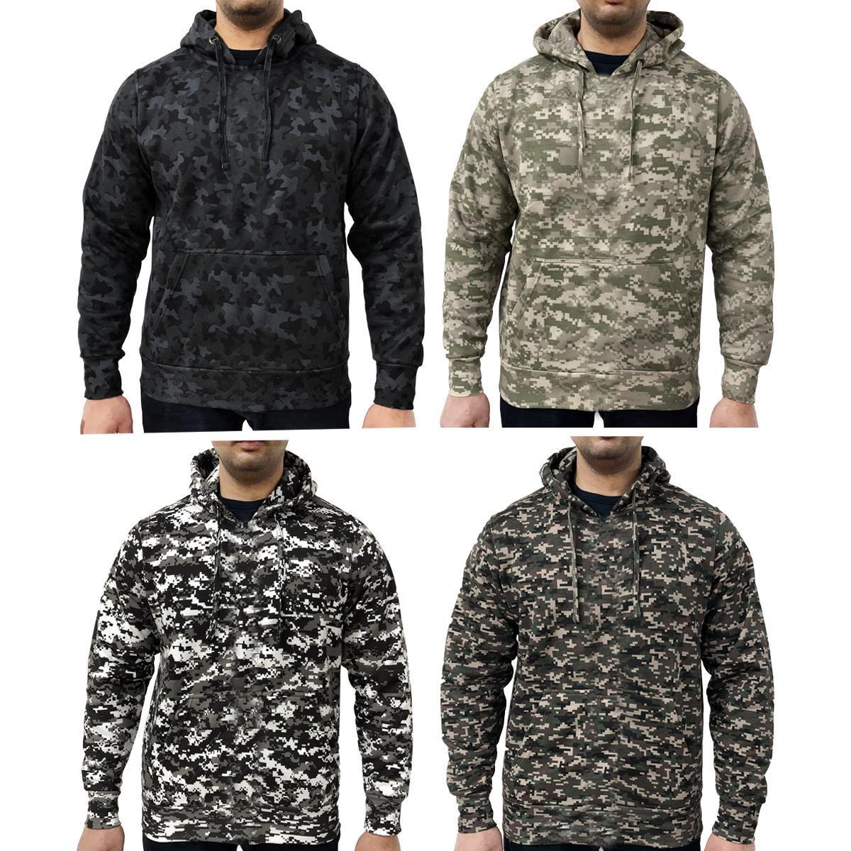 d863545bd0d56 Details about Game Mens Military Camo Hoodie Digital Camouflage Hooded Top