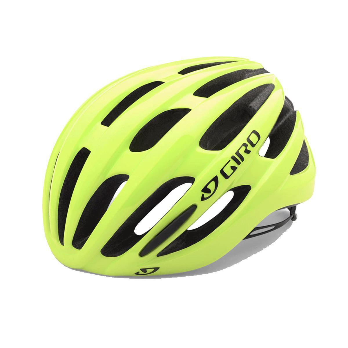 Details about Giro Foray Road Cycle Bicycle Bike Helmet Highlight Yellow -  3 Sizes 997776290