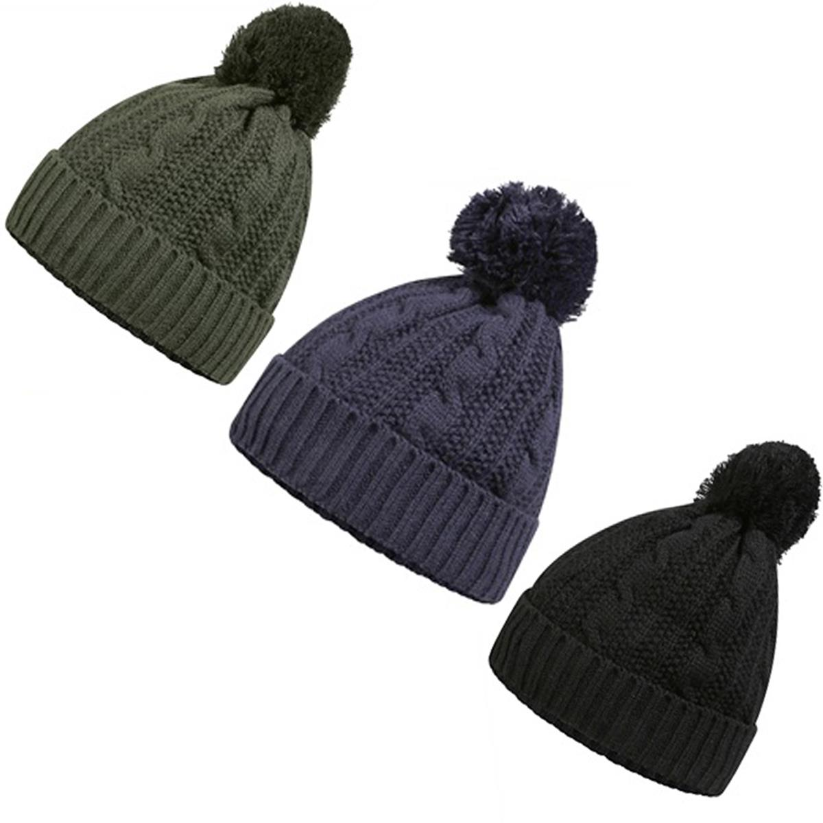 Details about ProClimate Waterproof Thinsulate Chunky Cable Knit Bobble Hat   aefa3261f5f
