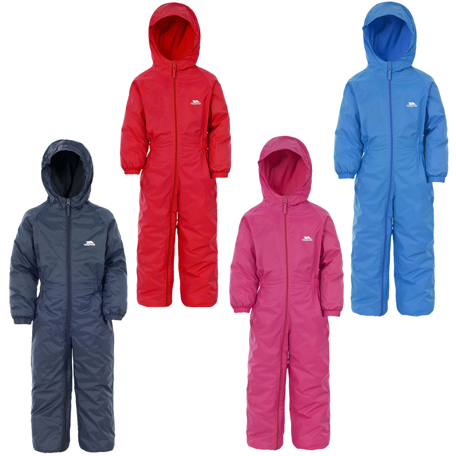 Pink Pink 18-24 Months Hippychick Fleece Lined Waterproof All-in-one Suit