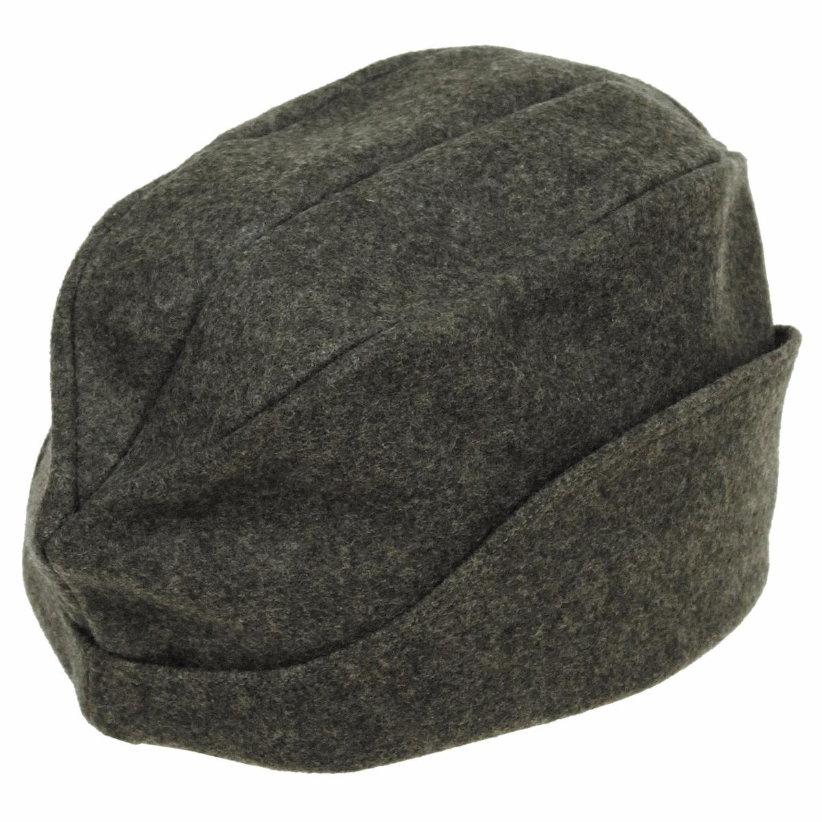 b91282f2053 Details about Swiss army surplus WW2 green grey felt cap vintage