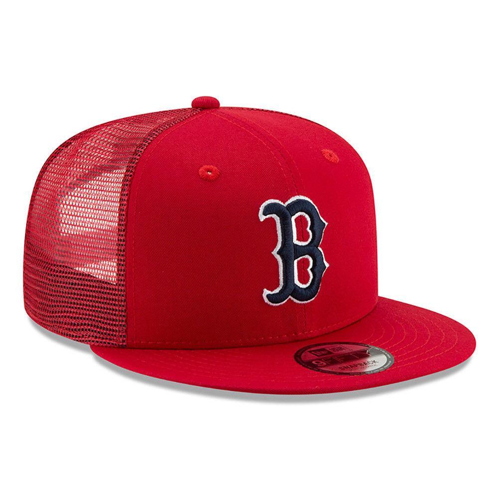 54a5b813e New Era Men's Boston Red Sox A-Frame Trucker Cap - Scarlet / Black BNWT