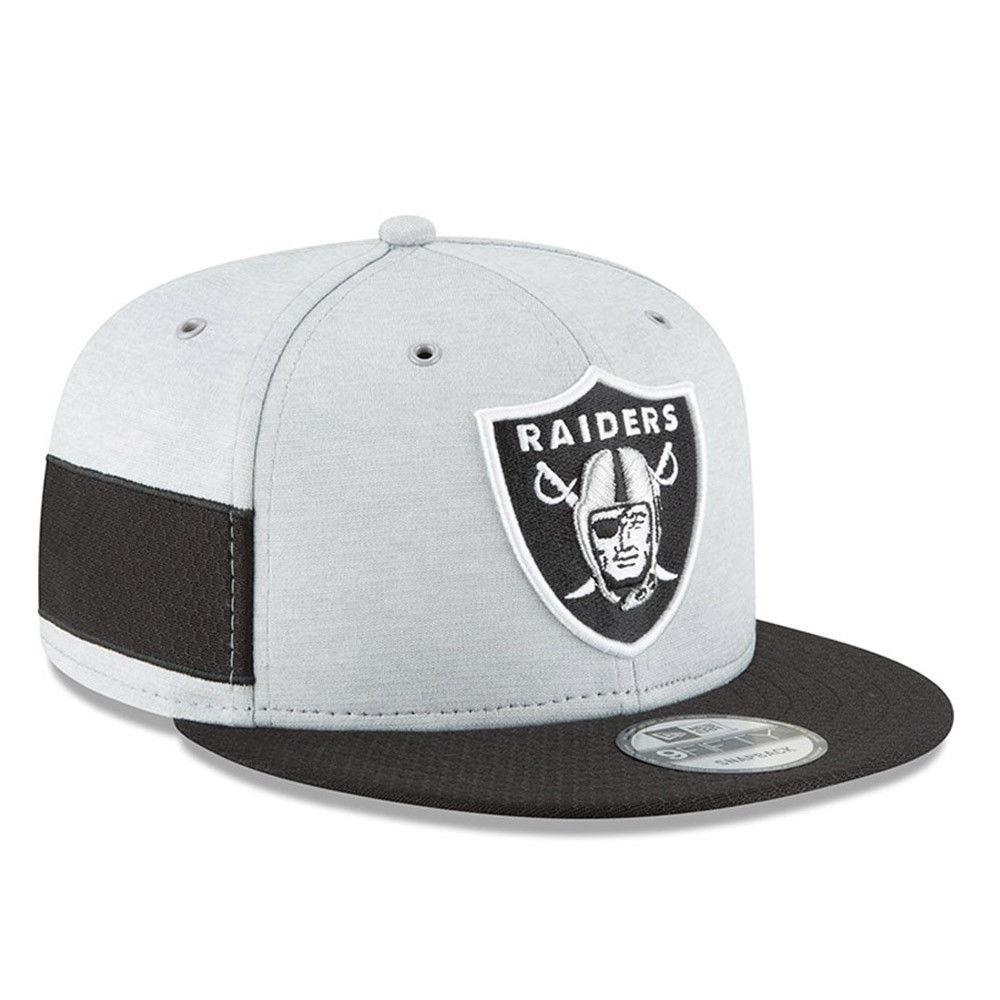 Oakland Raiders 9 cincuenta Snapback gorra Nueva Era hombres - gris   negro  de BNWT d632394c033