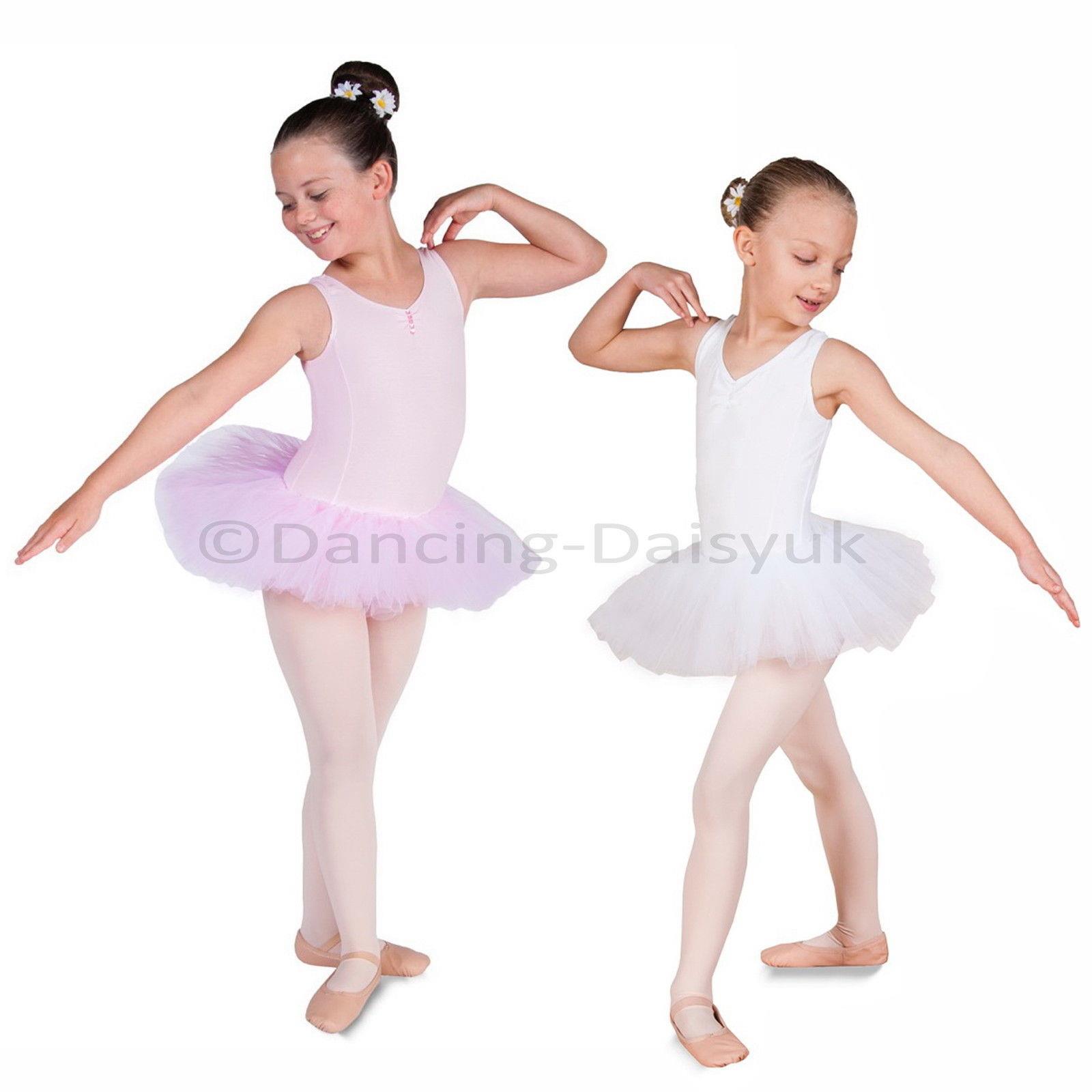 cfc0c5efcd Details about New Lily Girls Ballet Tutu Leotard Ballet Dress Pink White  Age 2-12 yrs