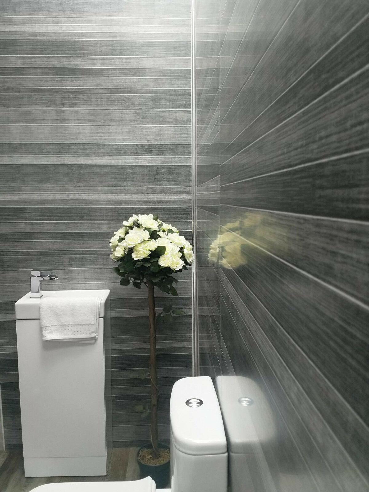 grey tile effect large shower panels bathroom wet wall pvc
