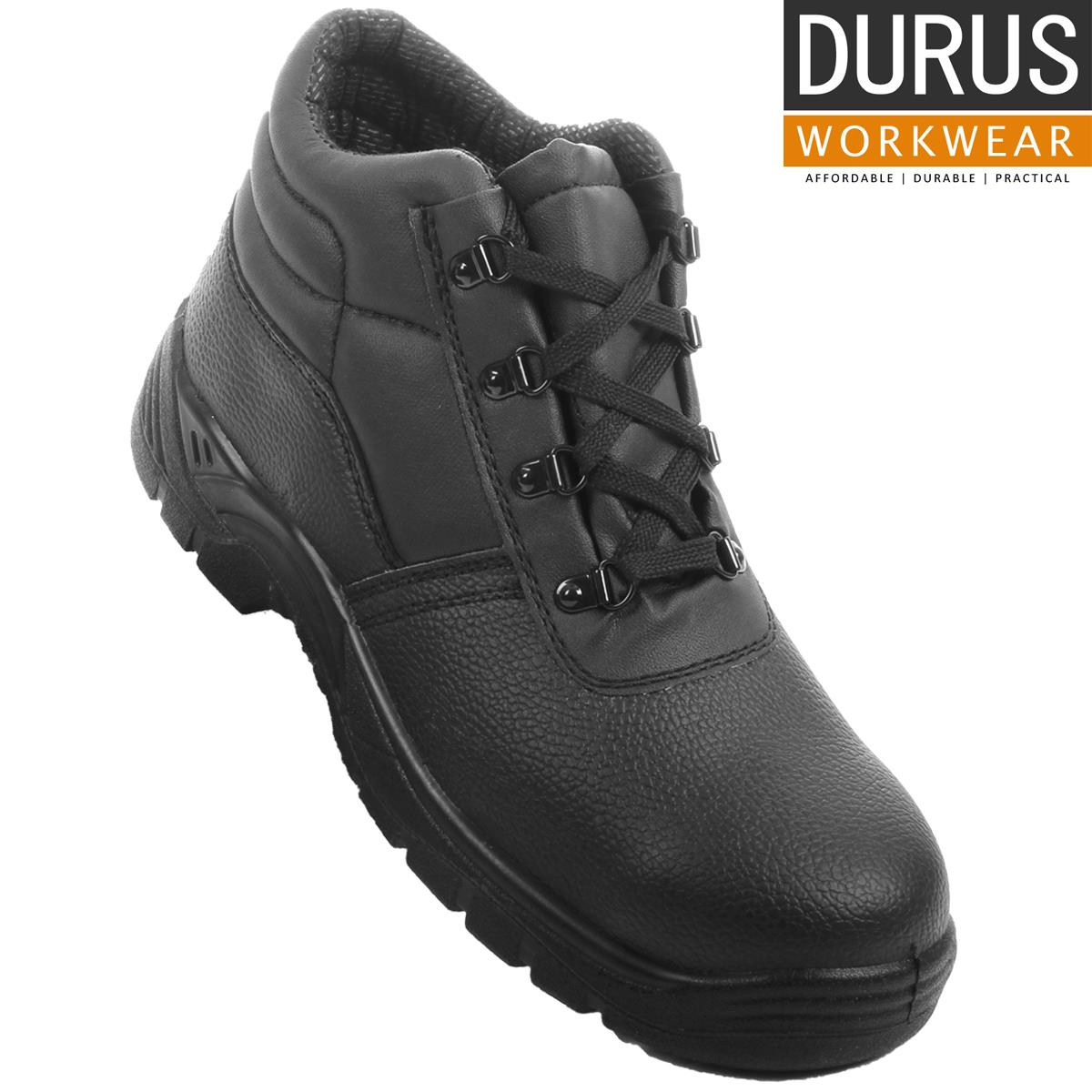 919914a1556 Details about Durus Workwear Steel Toe Cap Safety Protective Midsole Chukka  Boot