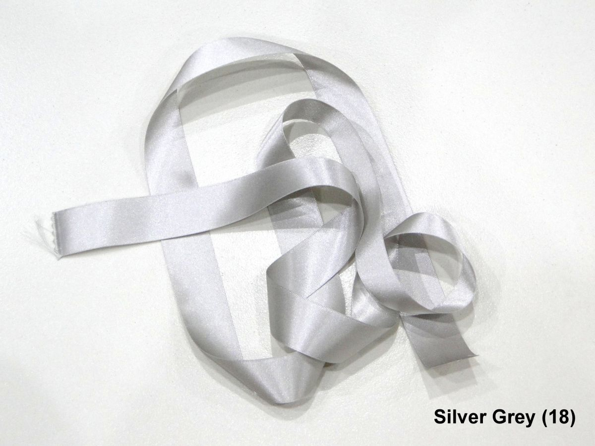 Berisfords Silver Grey 5mm Double Sided Satin Ribbon 1m//5m//10m//20m//100m