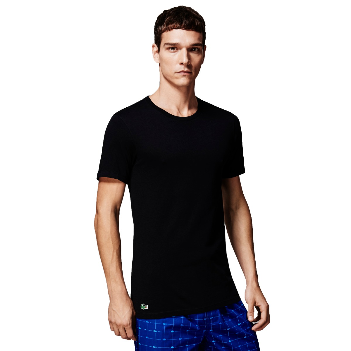 entire collection quality first harmonious colors Details about Lacoste NEW Men's 3 Pack Slim Fit Crew Neck T-Shirts - Black  BNWT