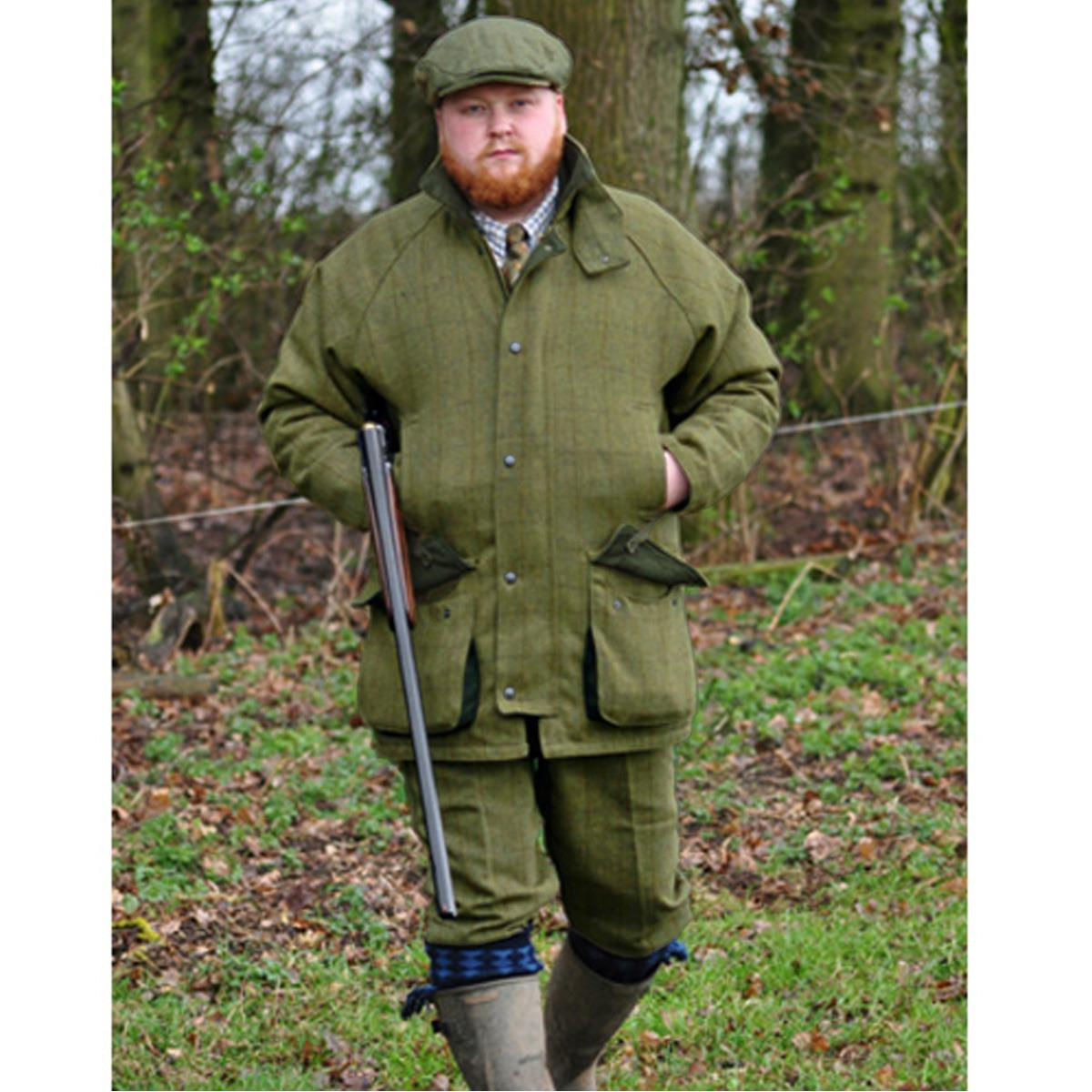 Game Mens Dark Derby Tweed Hunting Shooting Jacket Coat