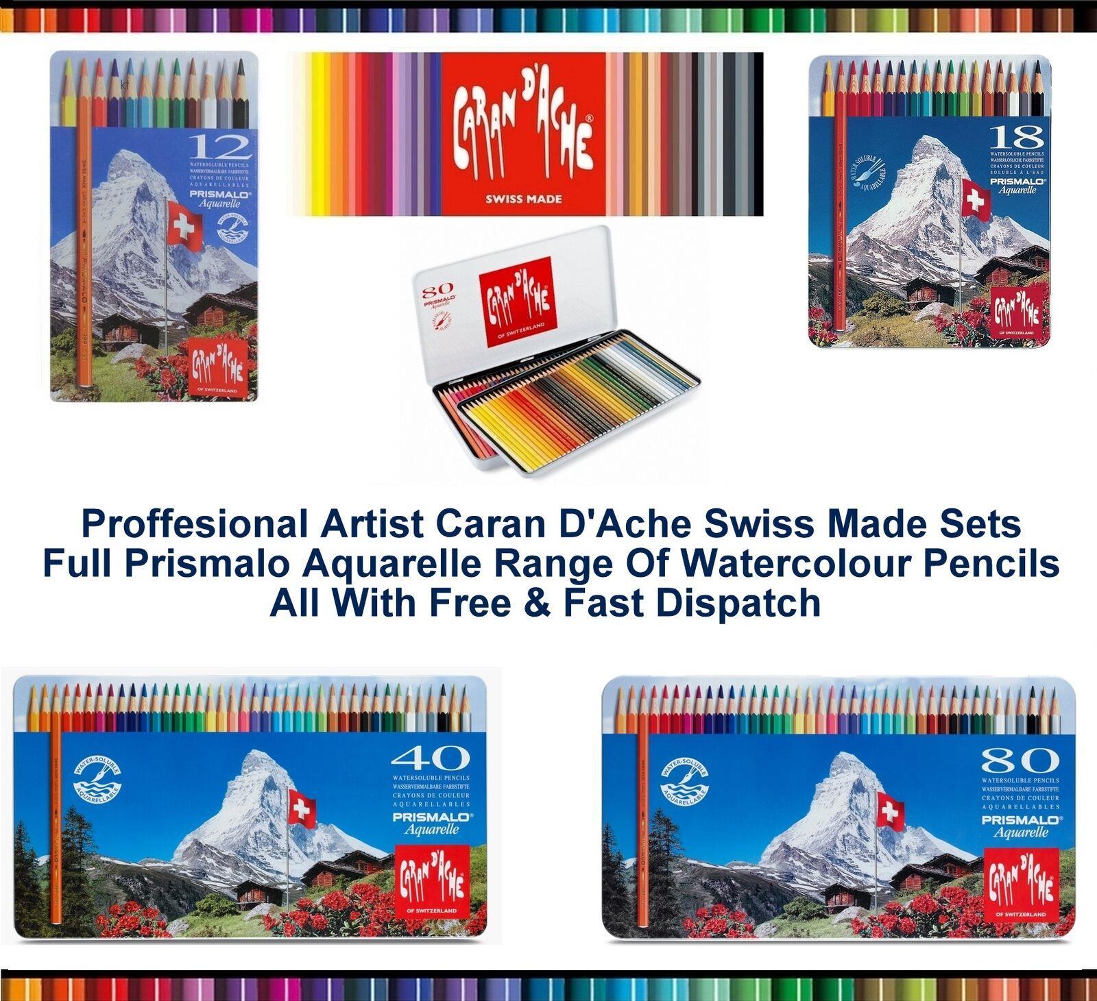 Caran D /'ache Prismalo Acuarela//Lápices de Colores Solubles Artistas Aquarelle