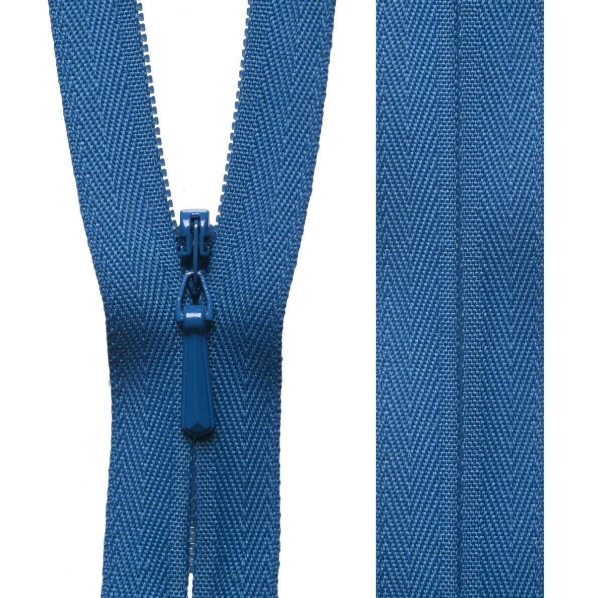 White YKK Concealed Zip Invisible Zip Closed End 20cm23cm41cm56cm