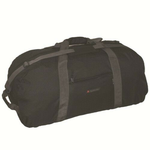 c9db45d492d Highlander Cargo 65lt Litre Black Military Kit Bag Holdall New RUC129