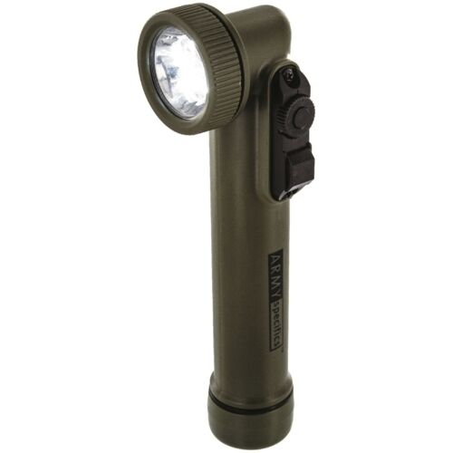 US Army Olive Green Right-Angle Torch Medium LED Military Flashlight New