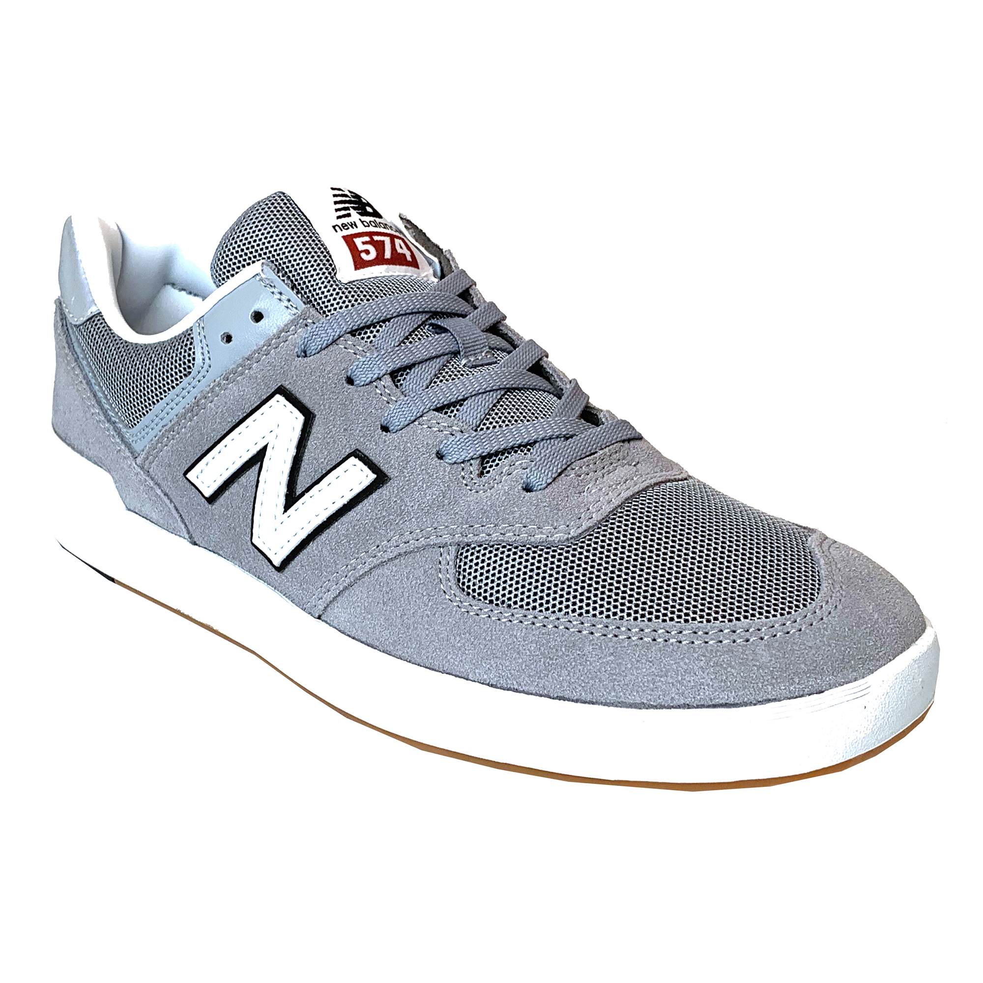 5379c768 Details about New Balance Men's 574 Court Shoes - Grey / White BNWT