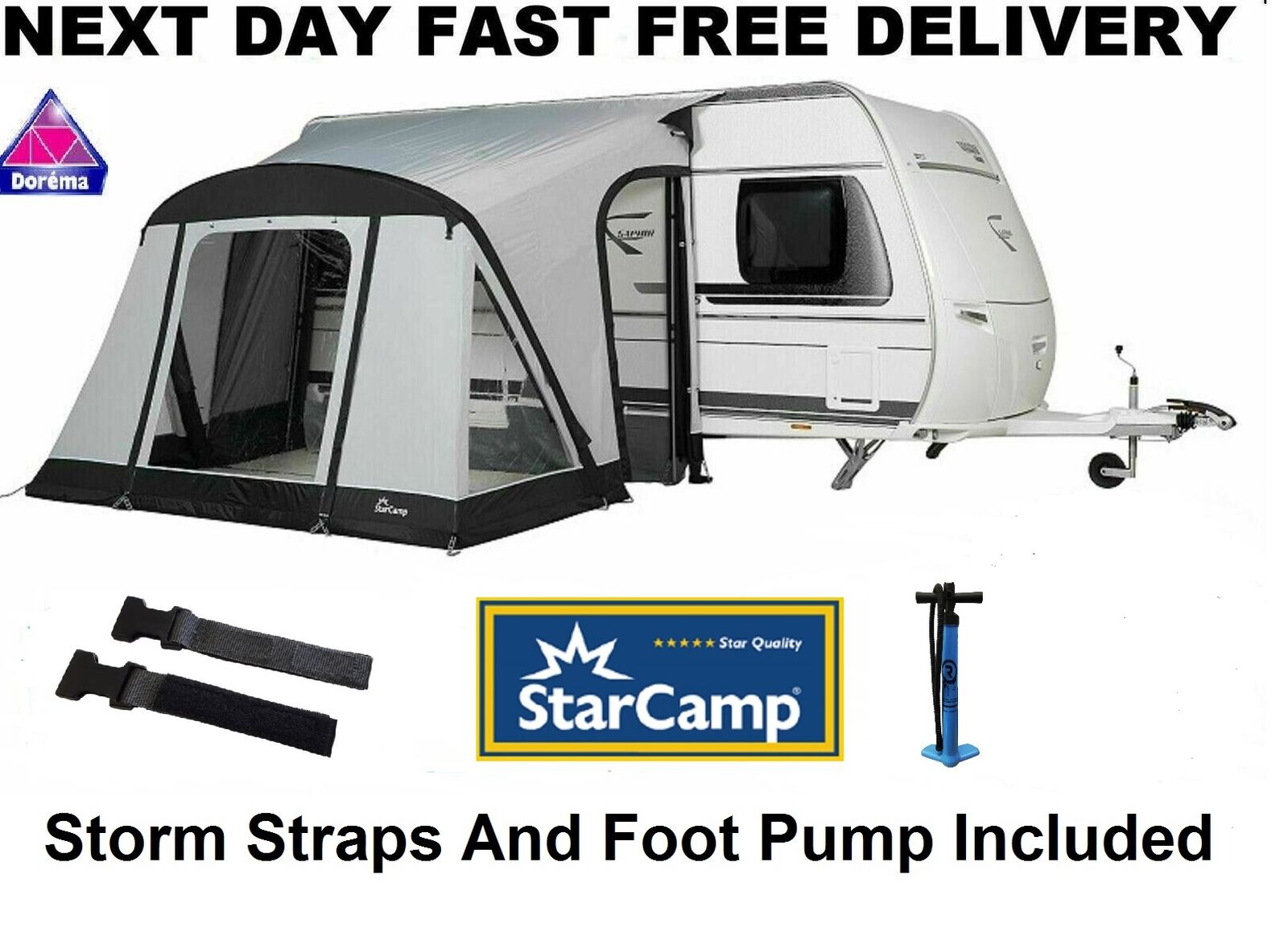 Dorema Starcamp Quick & Easy 325 AIR Inflatable Porch ...