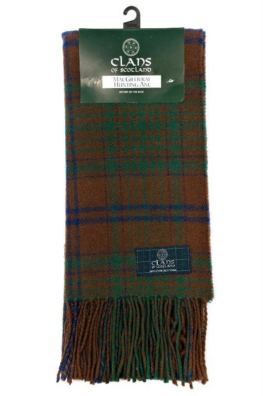 Macgillivray Hunting Ancient Pure Wool Tartan Clan Scarf