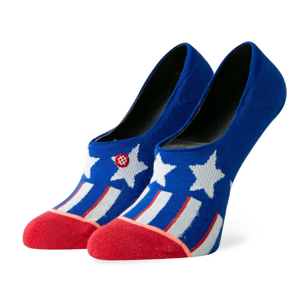 Stance Patriotism Invisible No Show Sock Blue//Red Women/'s Sz 8-10.5