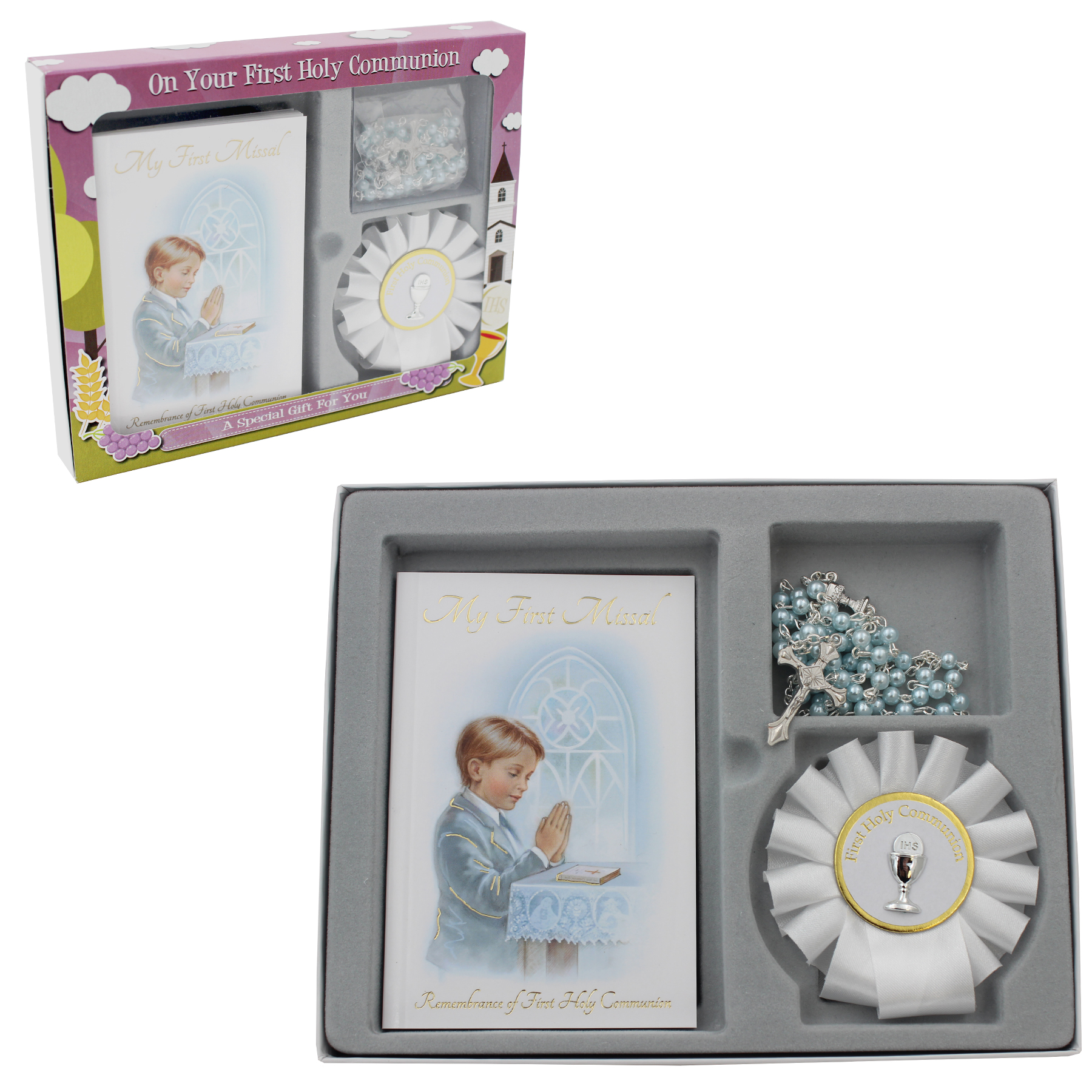 Holy Communion Gift Set Boy Missal Book