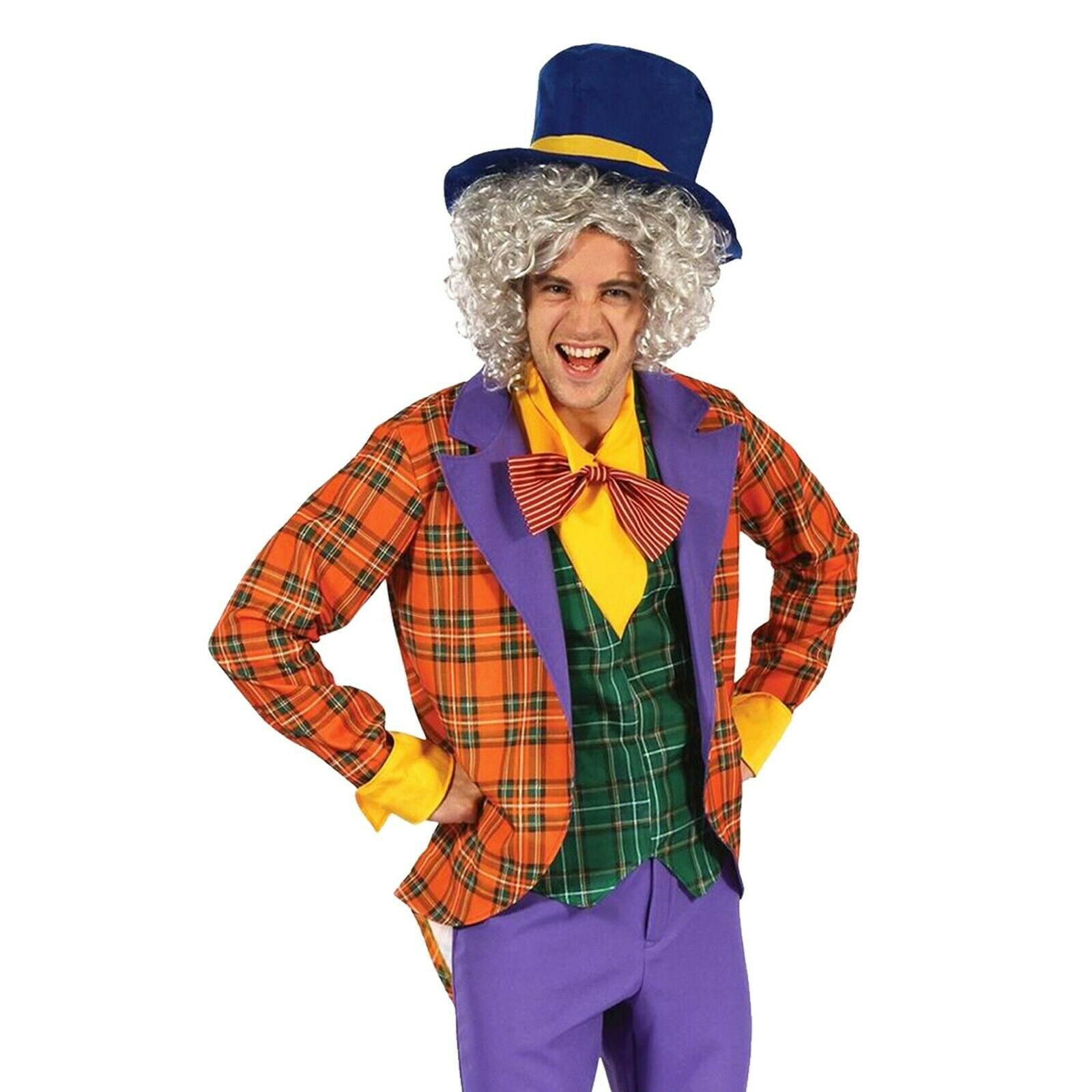 Mad Hatter Male Fancy Dress Outfit Costume Adult Alice in Wonderland Book Week