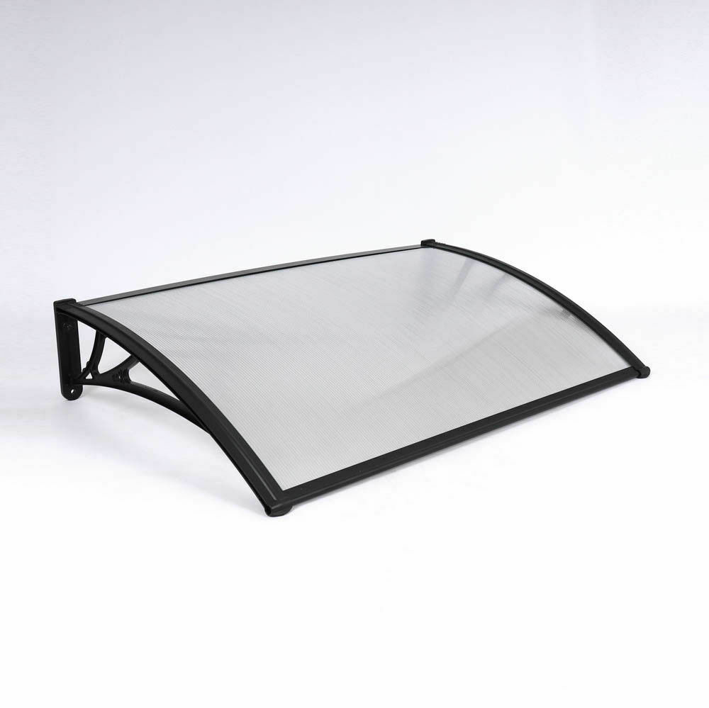 Black Door Canopy Opaque Corrugated Awning Shelter Front