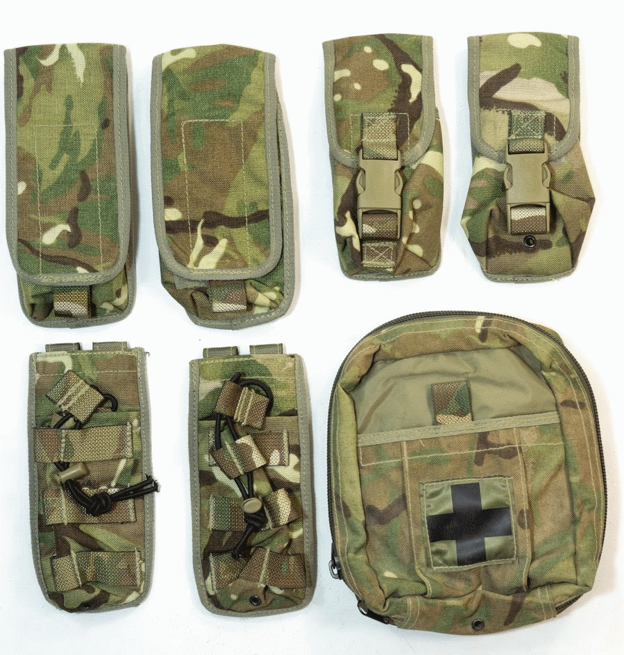 Details about Set of 7 British army surplus MTP camo Osprey pouches