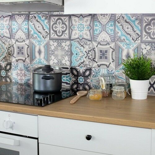 D C Wall Waterproof Amp Washable 3d Tile Wallpaper Moroccan