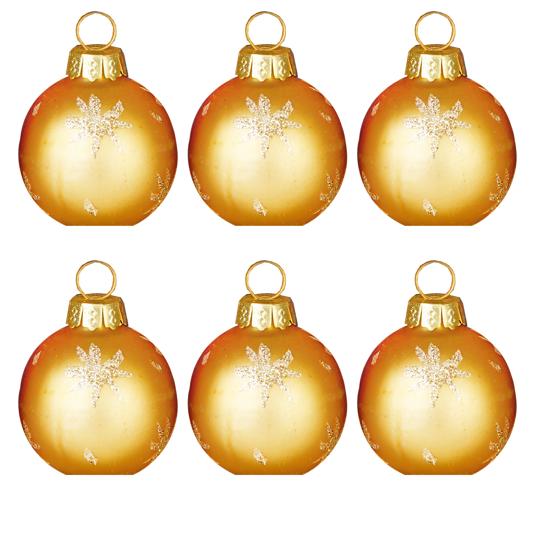 Christmas 6 X Glass Bauble Table Gold Place Card Holder