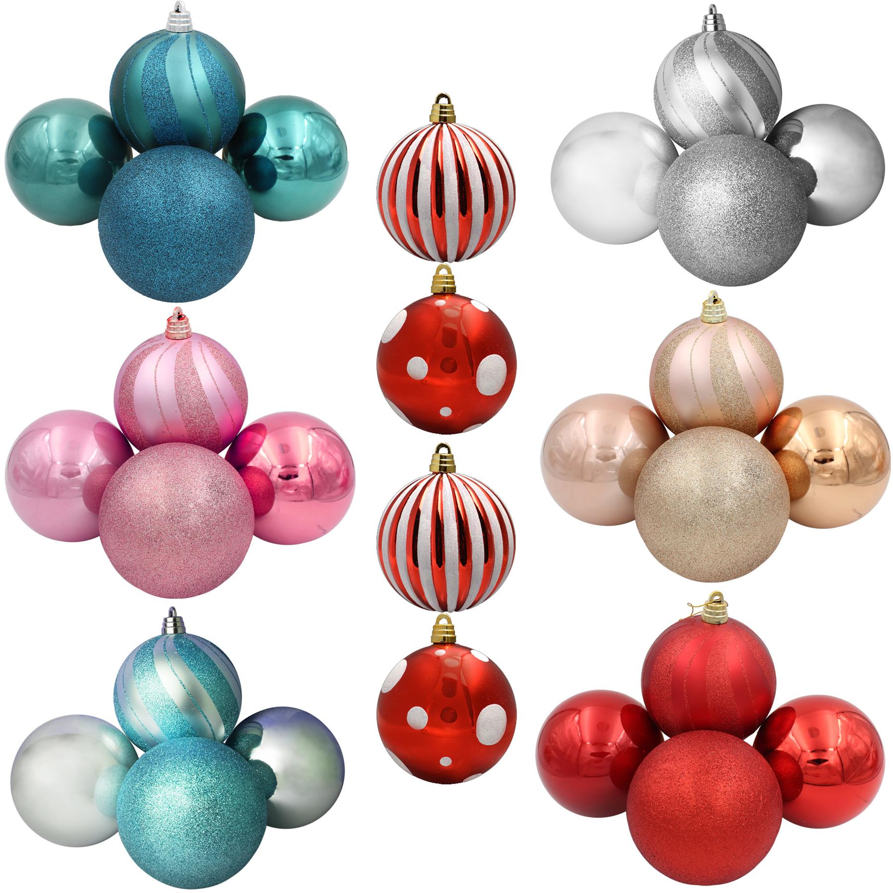 Christmas Tree Decoration   Pack of 18 Baubles   18mm / 18cm ...