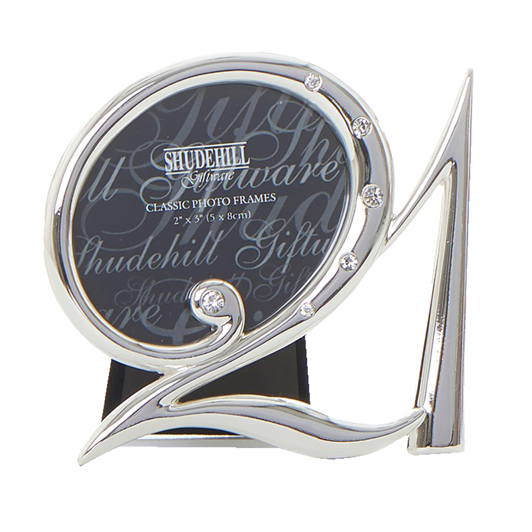 21st Birthday with 3D Number Stunning Mirror Glass 4/'x6/' Photo Frame