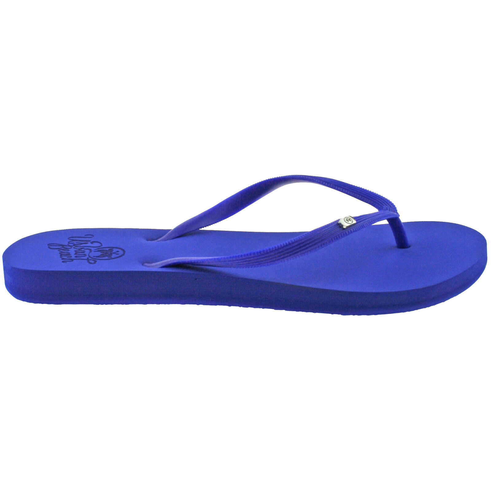 Ladies Urban Beach Wight Blue Toe Post Flip Flops Sandals -7744