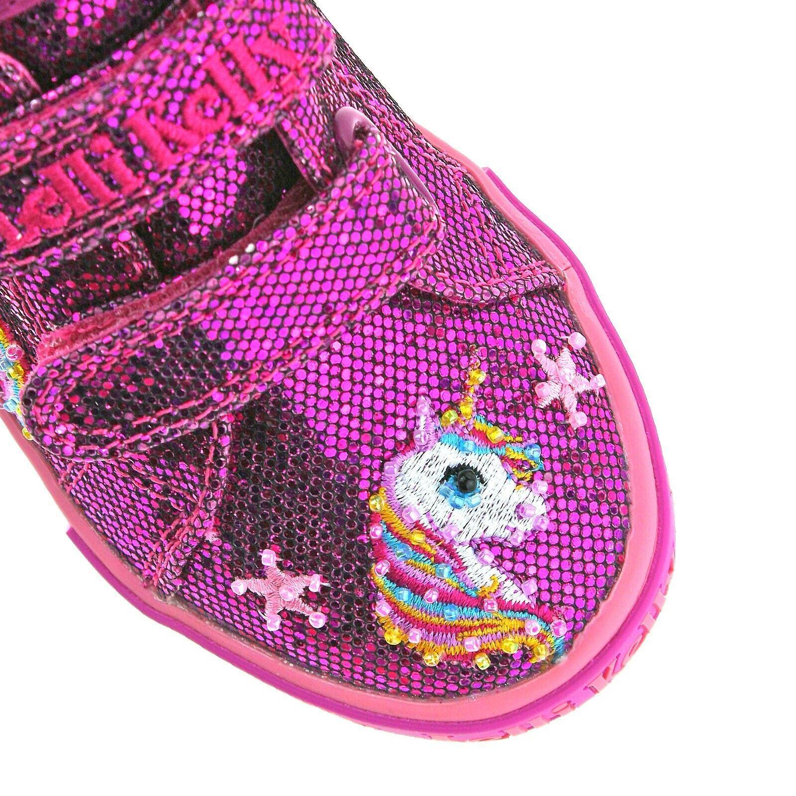 GW01 Purple Glitter Abigail Baby Dolly Shoes Lelli Kelly LK6000