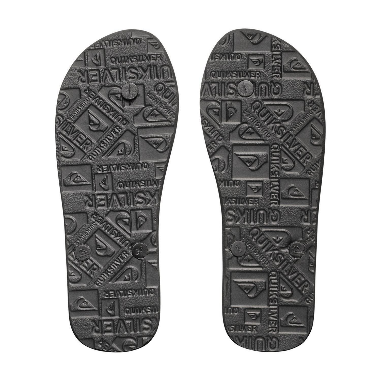 Grey Quiksilver NEW Men/'s Molokai Hold Down Flip Flops Black BNWT Black